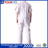 여름 (YLT116) 동안 짧은 소매 작업복 백색 작업복