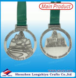 고대 은 빈 메달을 순환하는 말레이지아 Merdeka 금속 기념품 메달