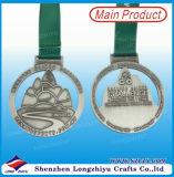 Metallandenken-Medaille Malaysia-Merdeka, die antike silberne hohle Medaille komprimiert