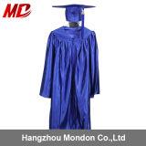 Bleu royal brillant de robe de chapeau de la graduation des enfants