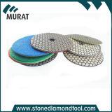 7 단계 화강암을%s 건조한 닦는 패드 다이아몬드 공구 또는 대리석 또는 콘크리트
