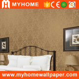 Hoogwaardig Golden pvc Vinyl Wallpaper met Deep Embossed
