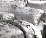 Ropa de cama determinada de Oeko-Tex de la nieve de Taihu del lecho de seda inconsútil gris de seda de la hoja