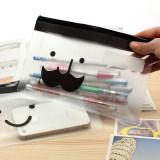 Sac respectueux de l'environnement de crayon de papeterie d'enfants de PVC de biens