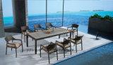 طاولة [بس-ووودن] علبيّة مع [رتّن] كرسي تثبيت أثاث لازم الصين خارجيّ يتعشّى أثاث لازم حديقة مجموعة