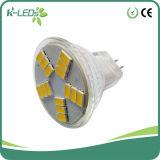 Warme Witte MR11 leiden van het lage Voltage 15SMD5630 10-30V gelijkstroom