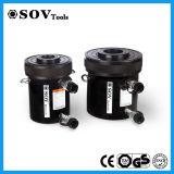 Cylindre hydraulique de plongeur creux temporaire de double de soupape d'arrêt
