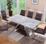 方法革新的なホーム家具のフィリピンの新しい大理石のダイニングテーブル(NK-DT219-1)