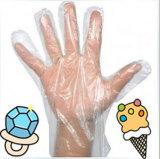Устранимые перчатки пластмассы чистки домочадца HDPE