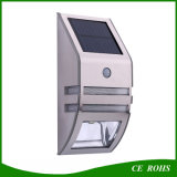 PIR Sensor LED Solar Yard Lámpara de pared de pasillo de luz Solar de iluminación exterior