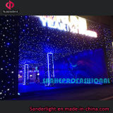 熱い青および白色電球によって結婚のためのショーによって使用されるLEDのStarlitカーテン