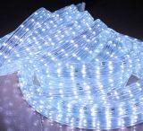 Color Azul 2 alambre redondo de luz LED de cuerda, luz de tira