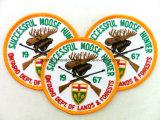 Customized Velcro Overlock bordado Badge / Logo (CV-46)