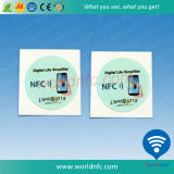 Etiqueta reescribible adhesiva de encargo de la etiqueta engomada RFID pequeña NFC
