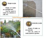 Líquido de limpeza do jato de água do bocal da mangueira de Nozzl Egarden da mangueira da água (WJ)