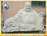 Lachender Buddha-Statue-Stein