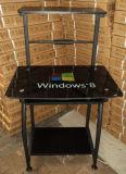 Keyboard (KA-750の最も安い価格のオフィス用家具)の2016熱いSell MetalおよびGlass Computer Desk