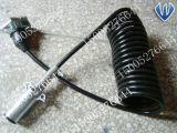 Câble de spirale de camion de remorque de fiche de 5 faisceaux