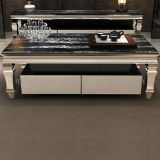Drawersの普及したModern Black Marble Coffee Table
