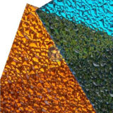Farbiges Polycarbonat-PC gewelltes geprägtes Blatt