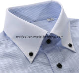 White Collarの人Blue Small Check Shirt