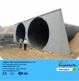 Metal liso galvanizado meio círculo do túnel ondulado da tubulação de aço