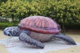 Animal gonflable de publicité géant de tortue de mer de dessin animé pour le stationnement d'océan