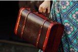 Retro Koffer van de Kleding van de Doos van de Opslag van de Koffer van de Doos van de Steunen van de Nostalgie Antieke