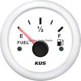 "2"" 52 mm Nivel de combustible Indicador de combustible a prueba de agua medidor de nivel de 12V 24V con luz de fondo para el barco del yate motocicleta del coche"