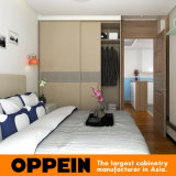 Livrar a mobília de madeira da sala de visitas da grão do projeto do apartamento do projeto (OP15-HOUSE4)