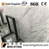 Marbre blanc en pierre normal de Bianco Carrare pour des tuiles de partie supérieure du comptoir de dessus de vanité