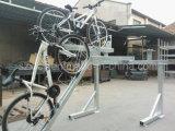 Crémaillères à deux niveaux de mémoire de vélo d'économie de l'espace pour le garage