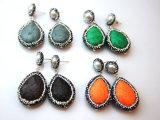 Multi decorazione dei monili degli orecchini della vite prigioniera dell'orecchino della perla del cuoio di colore per la signora