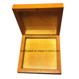 Casella di memoria provvista di cardini di legno del regalo del coperchio