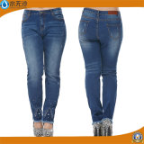 Кальсоны джинсыов оптовой джинсовой ткани джинсыов способа женщин вскользь тощие