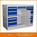 Armazenamento de aço resistente modular do armário de ferramenta da garagem de DIY, armário da gaveta