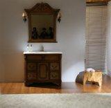 Großhandelsfußboden, der festes Holz-Badezimmer-Eitelkeit steht