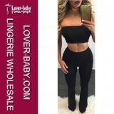 Frauen-Form-beiläufige Hosen-Klage-kurze Hose eingestellt (L28060-1)