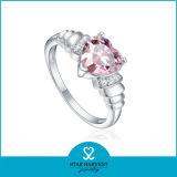 심혼 모양 분홍색 수정같은 왕국 심혼 반지