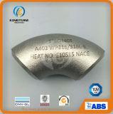 Encaixe da solda de extremidade do cotovelo do aço inoxidável 90d de ASME B16.9 (KT0218)