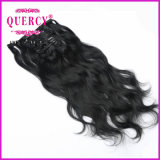 Clip spessa dell'estremità estratta doppio brasiliano non trattato dei capelli umani di Remy del Virgin in capelli