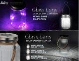 Solarglas mit Zeichenkette-Licht