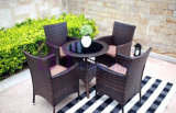Luxe Meubles de jardin en rotin Wicker Coffee Set