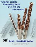 Tungsten Carbide Inner Coolant paso pedacitos de taladro para la máquina de perforación