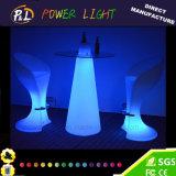 Plastic RGB Colorful Bar Furniture Mesa de Poseur de pico de LED