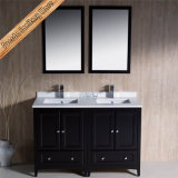 Fed-1068b Light Espresso Finishing Cupc Céramique Sink Solid Wood Armoires de salle de bains