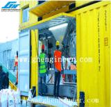 Portzufuhrbehälter Equipted mit Einsacken-Nähmaschine