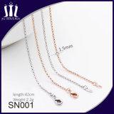 Encadenamiento de cobre amarillo cómodo de Sn001 Eco para el collar de la joyería