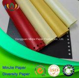 Cartulina de papel colorida de Pearlscent para la etiqueta para la manera y el paño