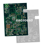 PCB (RoHS Fr4) Tableros multicapa Oro, Rojo Soldadura